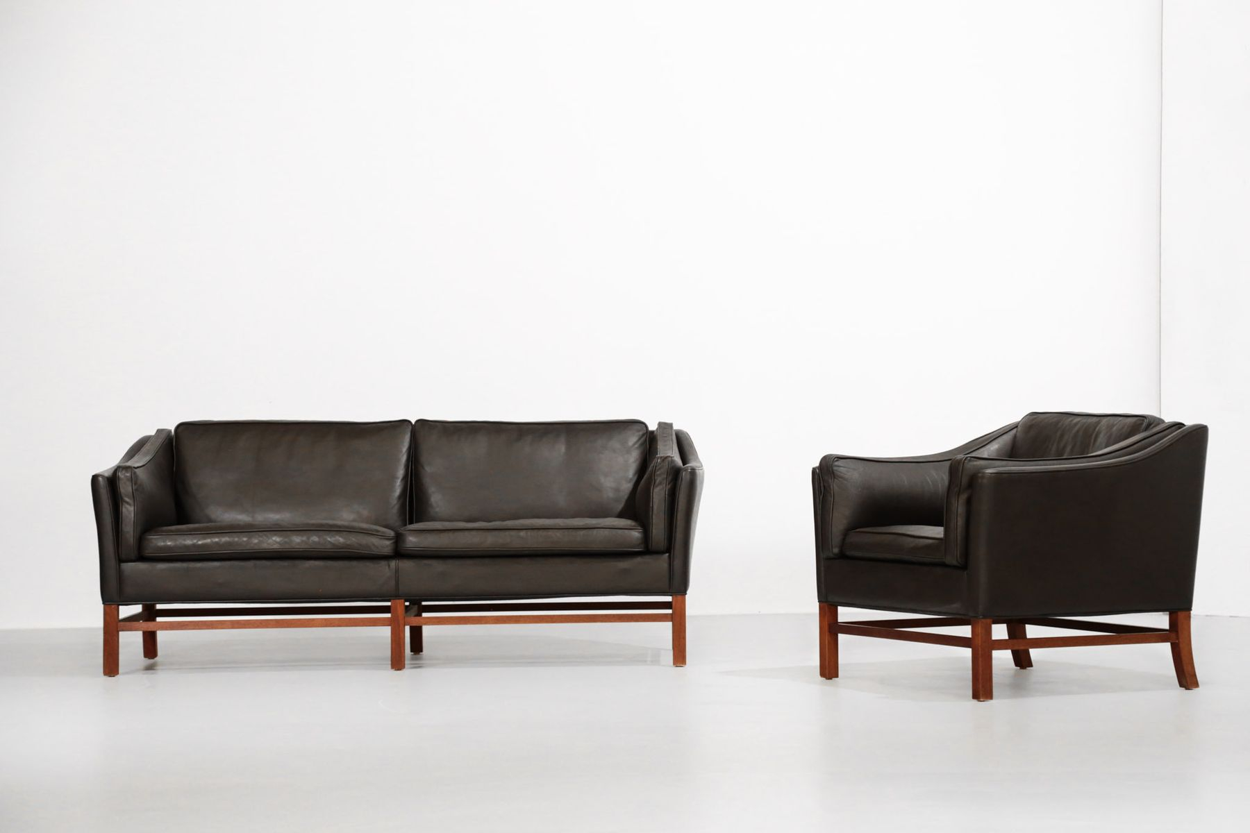 Danish Living Room Set In Leather 1970s with regard to Futon Living Room Set
