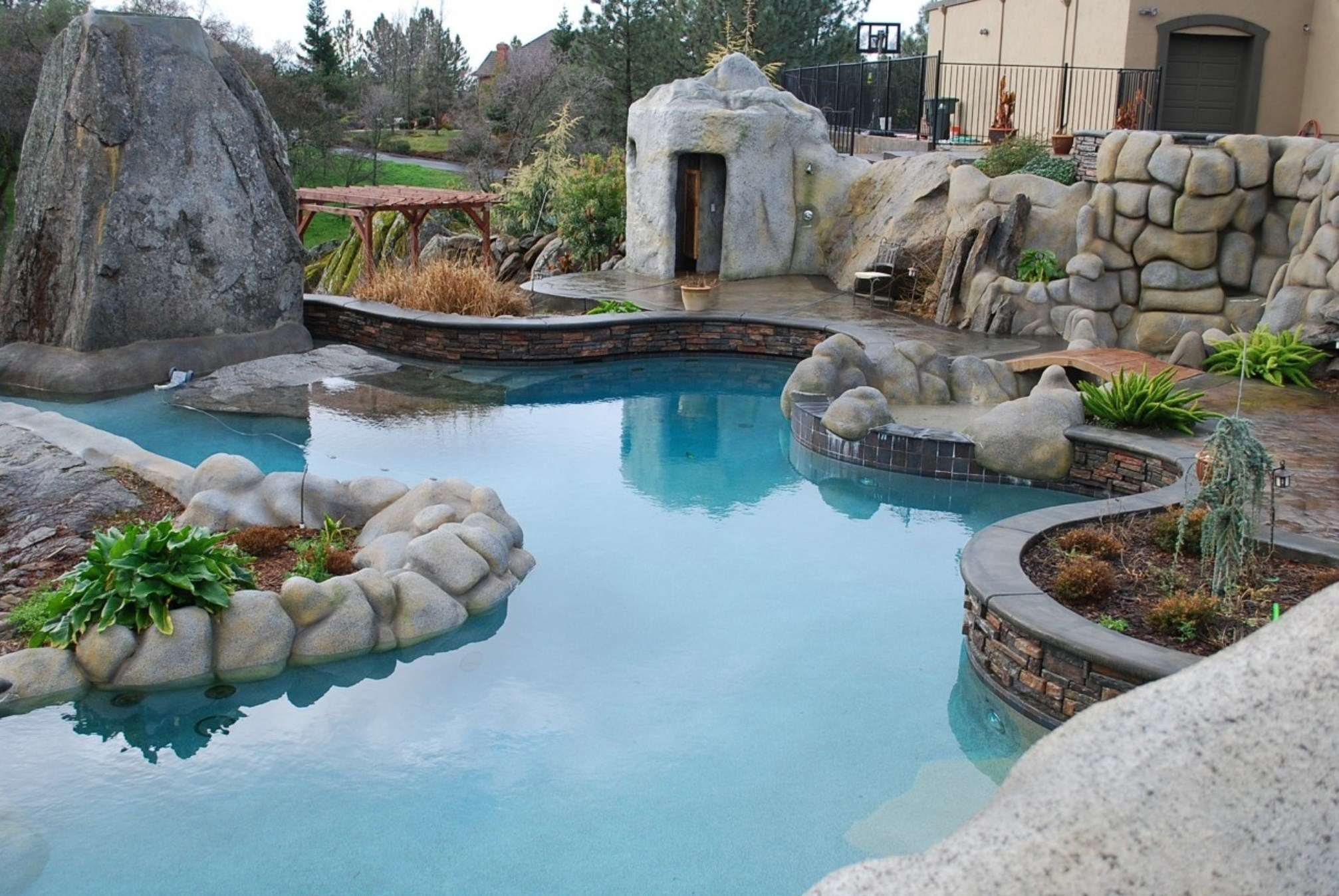 Decorating Attractive Swimming Pool For Elegant Backyard Design With with 13 Clever Ways How to Build Backyard Pool Decorating Ideas