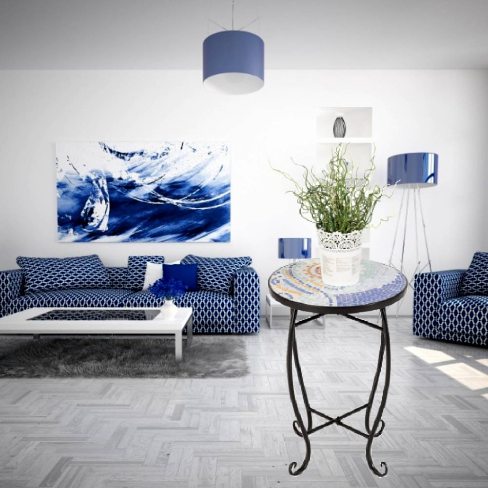 Details About Retro Modern Small Round End Side Accent Coffee Tea Table Bedroom Living Room inside Retro Modern Bedroom
