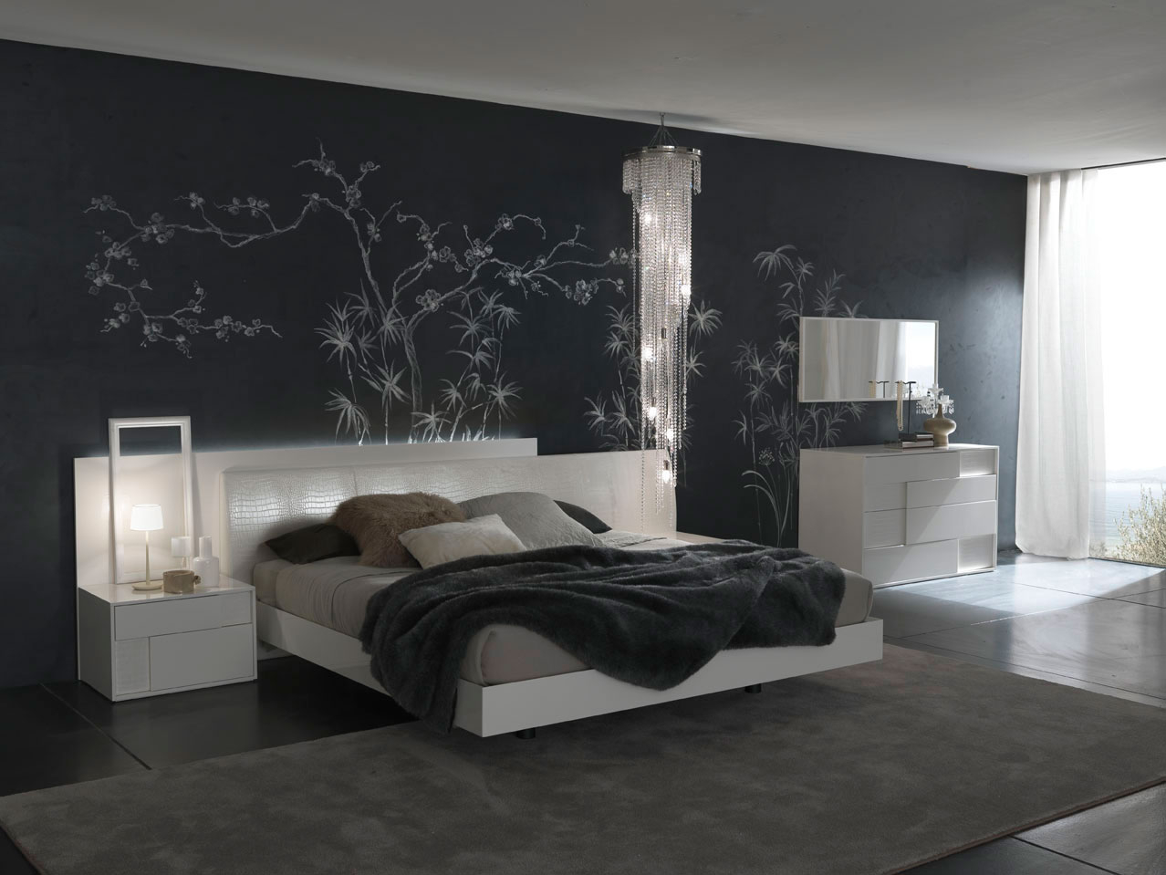 Download Artistic Flower Theme Wallpaper Modern Bedroom Decoseecom within 11 Genius Tricks of How to Make Modern Bedroom Wallpaper Ideas