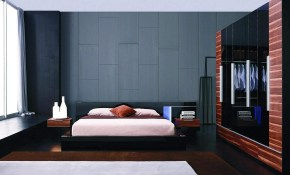 Exclusive Leather Designer Bedroom Set With Blue Light with regard to Modern Black Bedroom