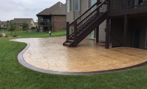 Fresh Backyard Stamped Concrete Patio Ideas Biaf Media Home Design intended for Backyard Stamped Concrete Patio Ideas