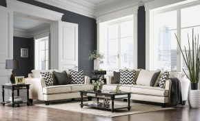 Furniture Of America Percey Living Room Set In Off White with regard to 15 Some of the Coolest Tricks of How to Build White Living Room Set For Sale