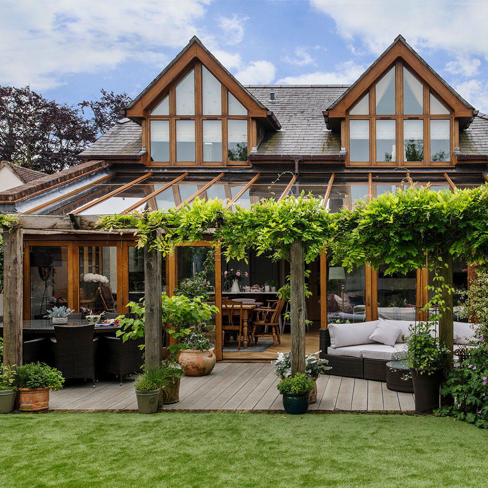 Garden Decking Ideas For Small And Large Plots with regard to Small Backyard Pergola Ideas