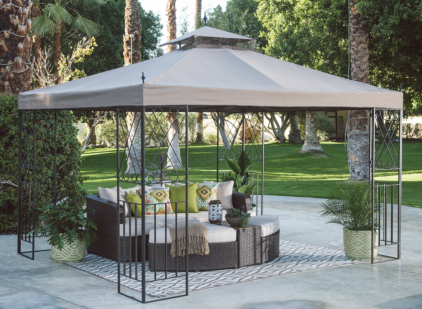 Gazebo Ideas Ways To Use A Gazebo Canopy In Your Backyard Hayneedle within Ideas For Gazebos Backyard
