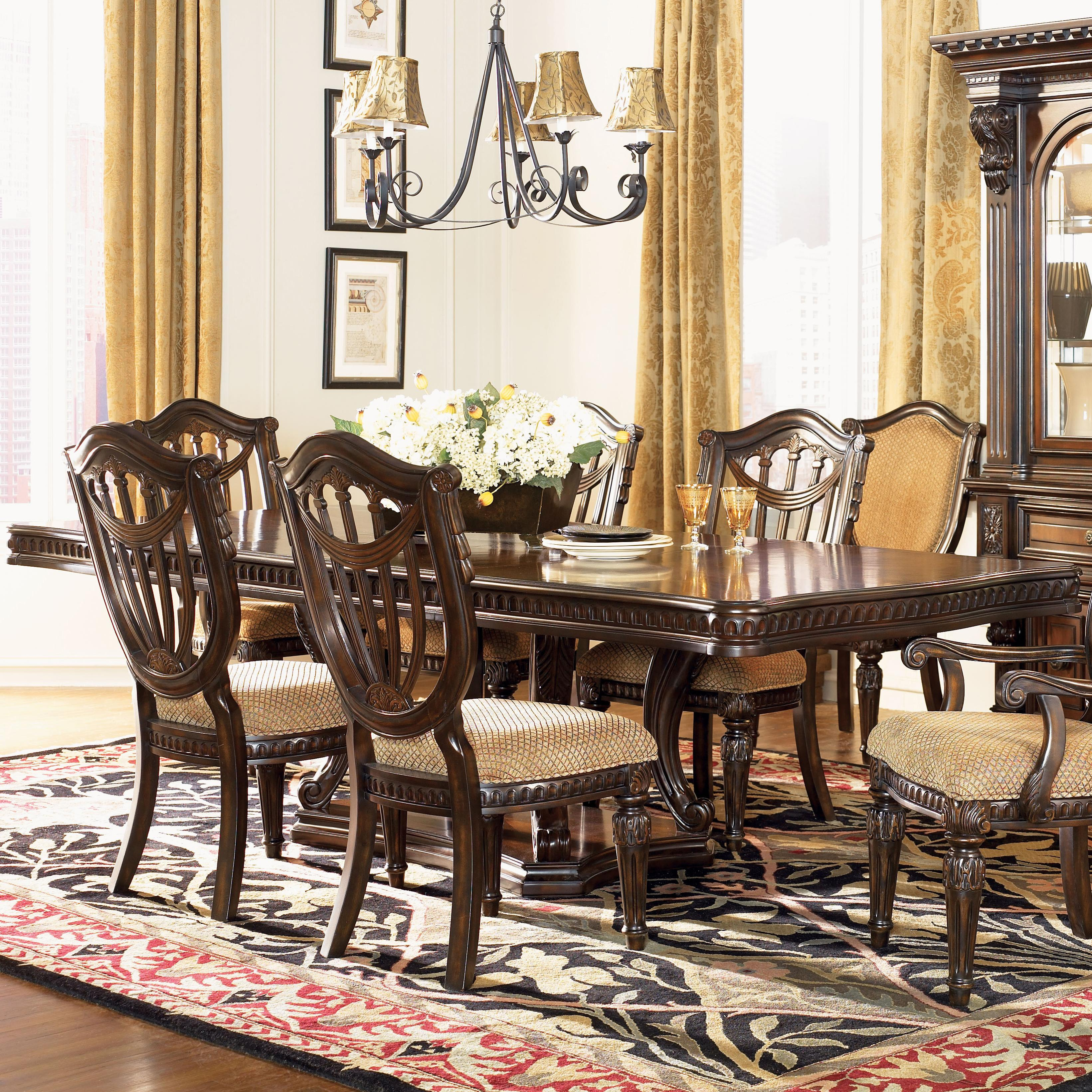 Grand Estates Double Pedestal Rectangular Dining Table Fairmont Designs At Royal Furniture for Best Living Room Set