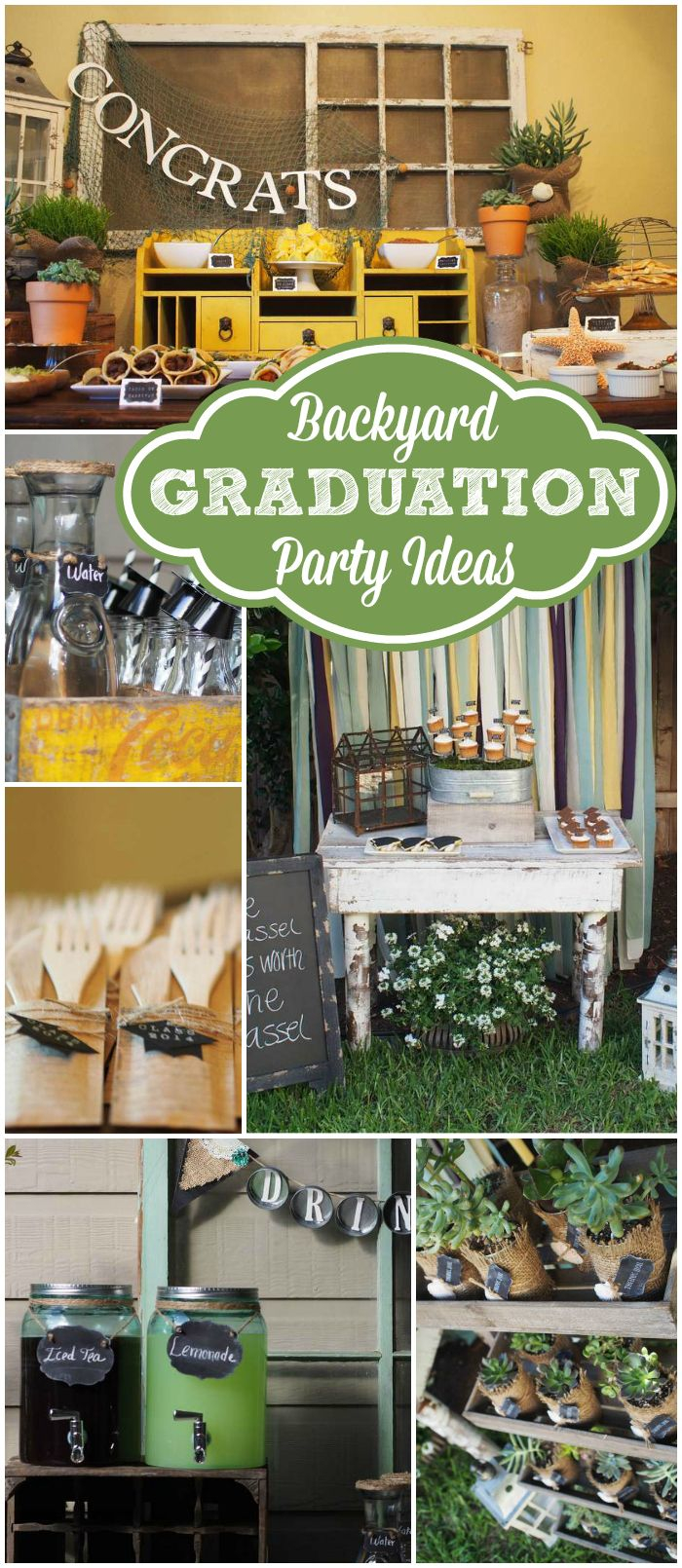 Heres A Trendy Masculine Outdoor Graduation Party See More Party within Backyard Graduation Party Decorating Ideas