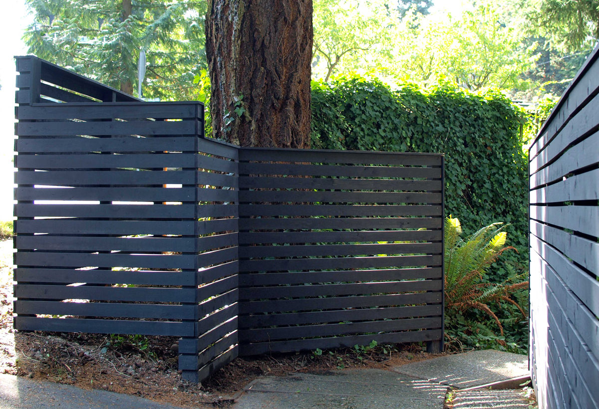 How To Build A Diy Backyard Fence Part Ll Diy Modern Fence Dunn Diy inside Fence For Backyard