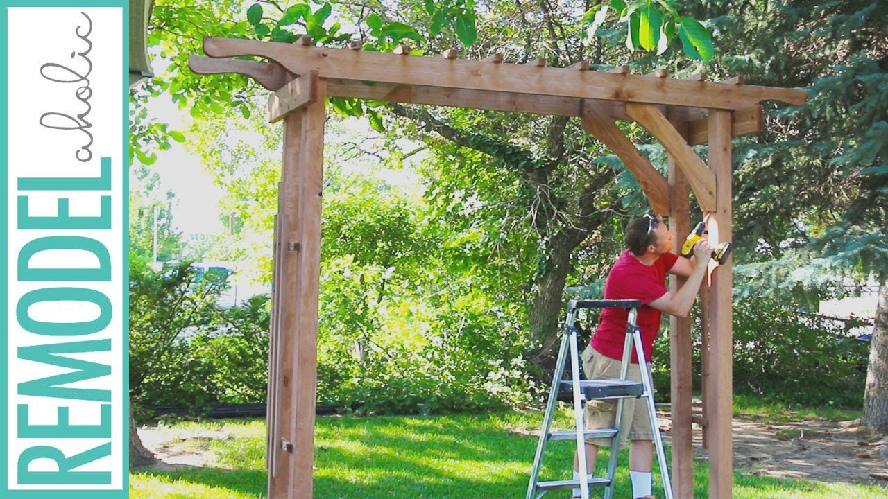 How To Build A Wood Arbor For Garden Yard Or Wedding Diy Arbor Tutorial regarding Backyard Arbor Ideas