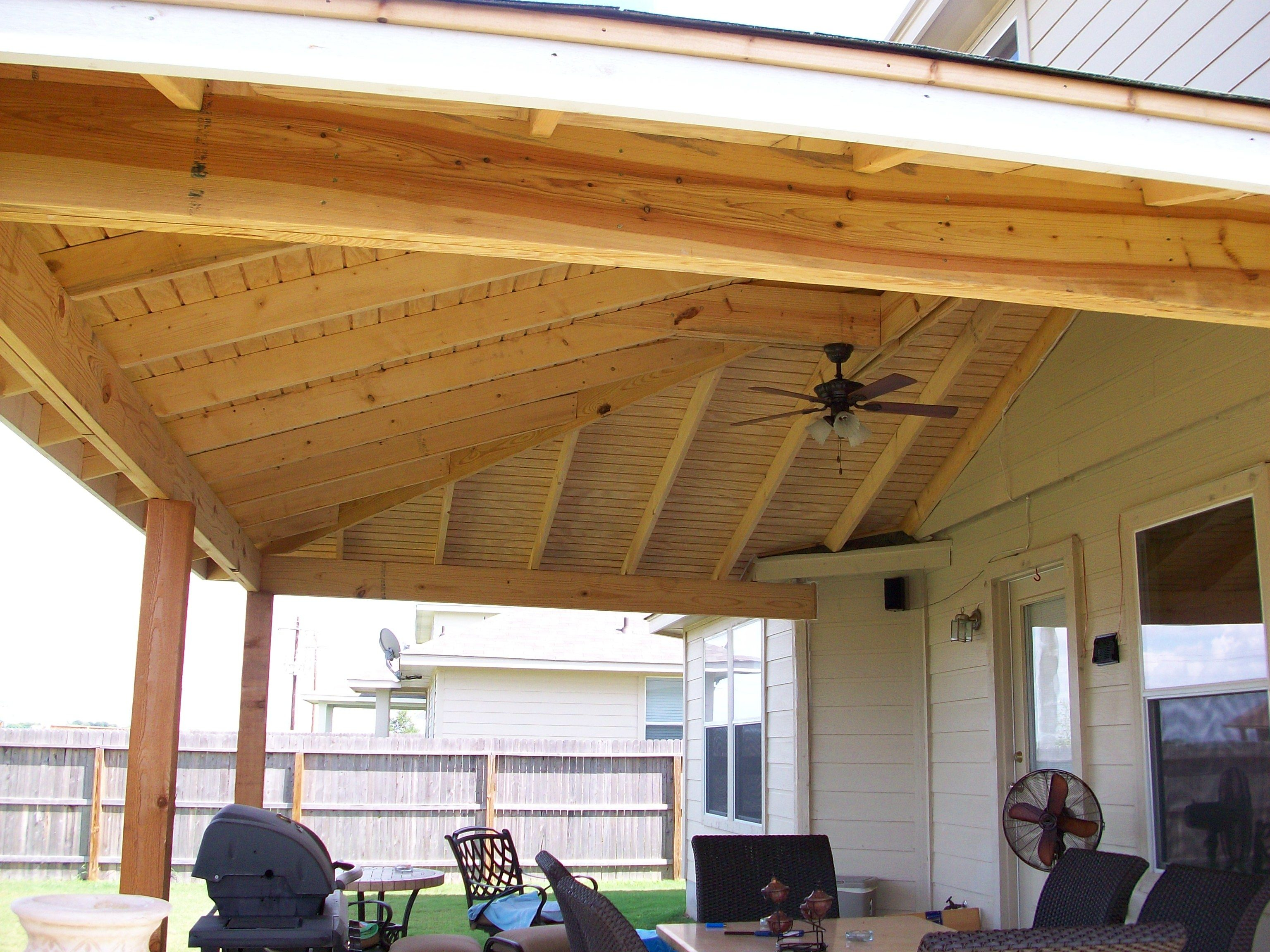 Illustration Of Natural Wooden Patio Covers Exteriors Patio in 12 Genius Concepts of How to Build Backyard Patio Roof Ideas