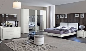 Made In Italy Wood Modern Contemporary Master Beds with Bedroom Set Modern