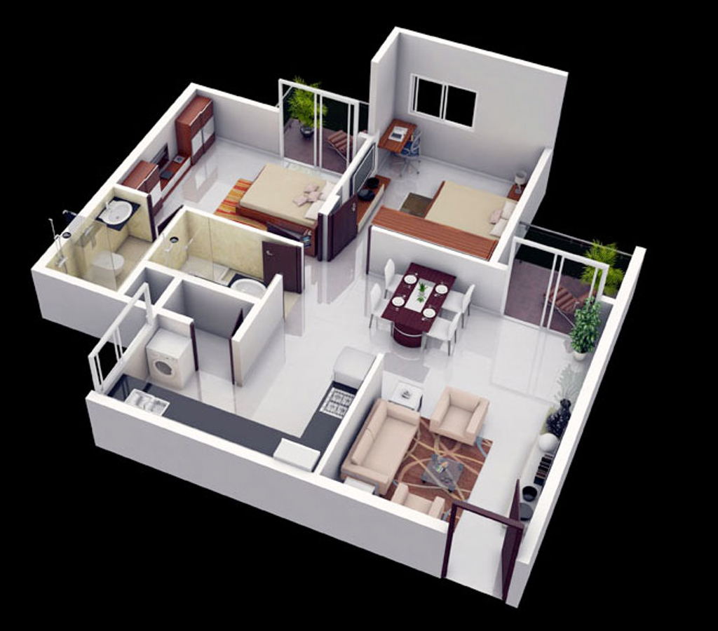 Modern 2 Bedroom House Plans 3d Images Ideas More Floor Layout With intended for 15 Smart Initiatives of How to Makeover 2 Bedroom Modern House Plans