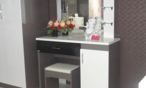 Modern Makeup Vanity Modern Bedroom Vanity Table Makeup Double pertaining to Modern Bedroom Vanity Set