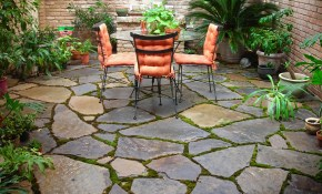 Outdoor Small Backyard Landscaping Ideas With Installing Flagstone with regard to Stone Patio Ideas Backyard