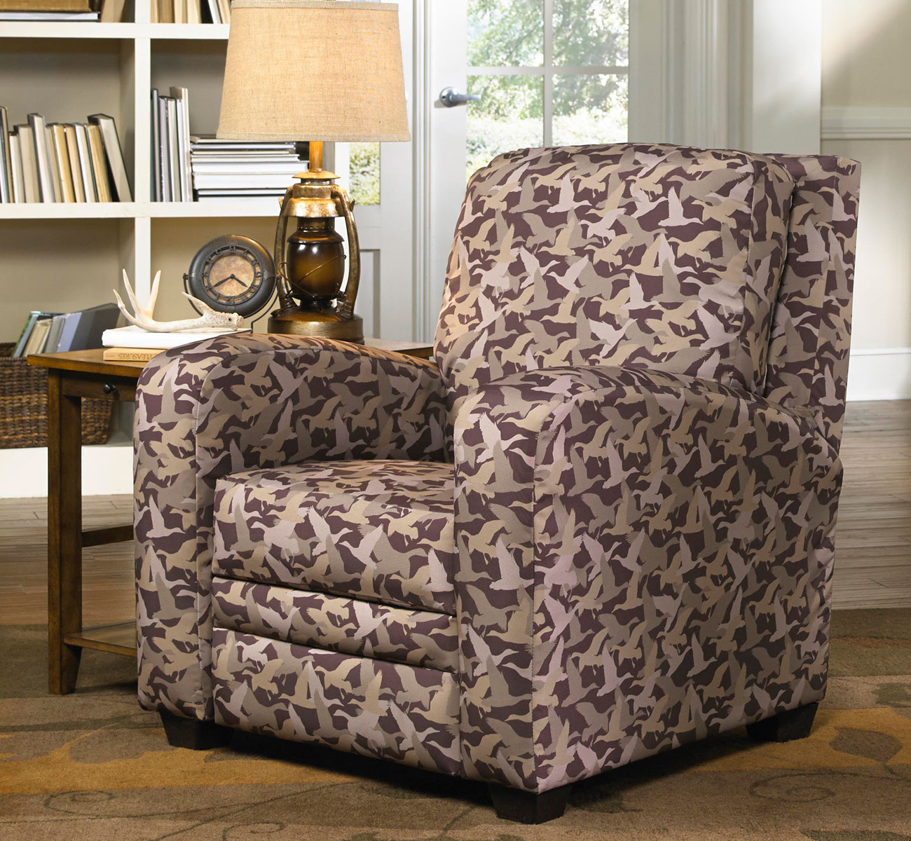 Sofa Relax At Home After A Long Day With Cozy Duck Dynasty Recliner regarding Camouflage Living Room Sets