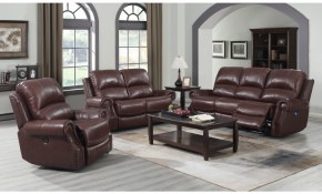 Sunset Trading Emerald 3 Piece Reclining Living Room Set With Power Headrests Usb Cognac Brown Su Em1193 3pc pertaining to Reclining Living Room Set