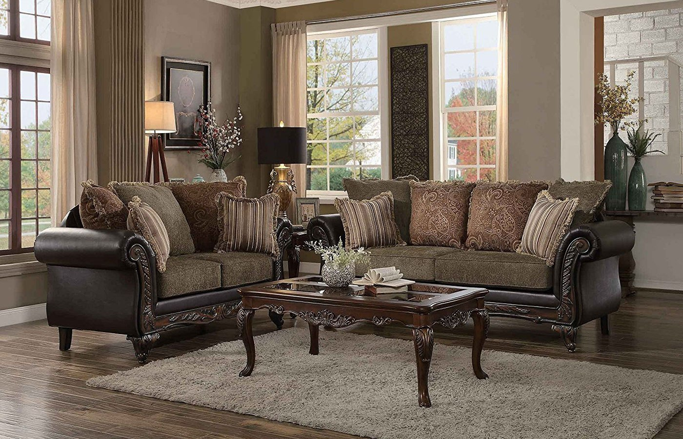 Thibodaux Living Room Set Brown within 10 Smart Designs of How to Build Complete Living Room Sets