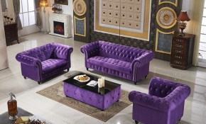 Us 19000 Purple Modular Velvet Sofa Home Living Room Furniture Button Tufted Fabric Sofa Chesterfield Furniture Sofa Set With Tv Stand In Living throughout Purple Living Room Set
