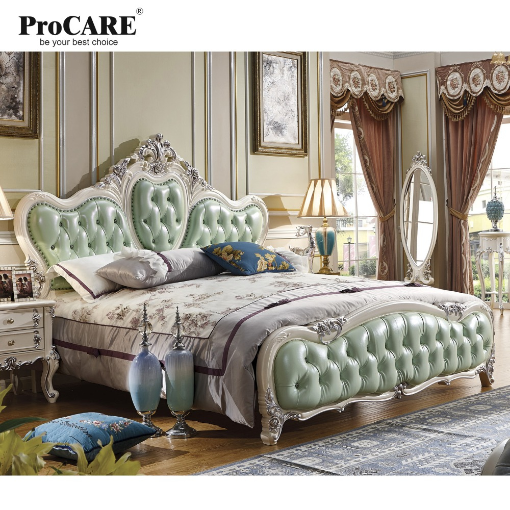 Us 37370 Luxury Bedroom Furniture Setstop Genuine Leather Headrest Modern Soft Bed French Style Bed In Bedroom Sets From Furniture On within 12 Clever Designs of How to Craft Modern Style Bedroom Set