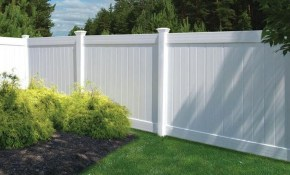 Veranda Linden 6 Ft H X 8 Ft W White Vinyl Pro Privacy Fence Panel inside Home Depot Backyard Fence