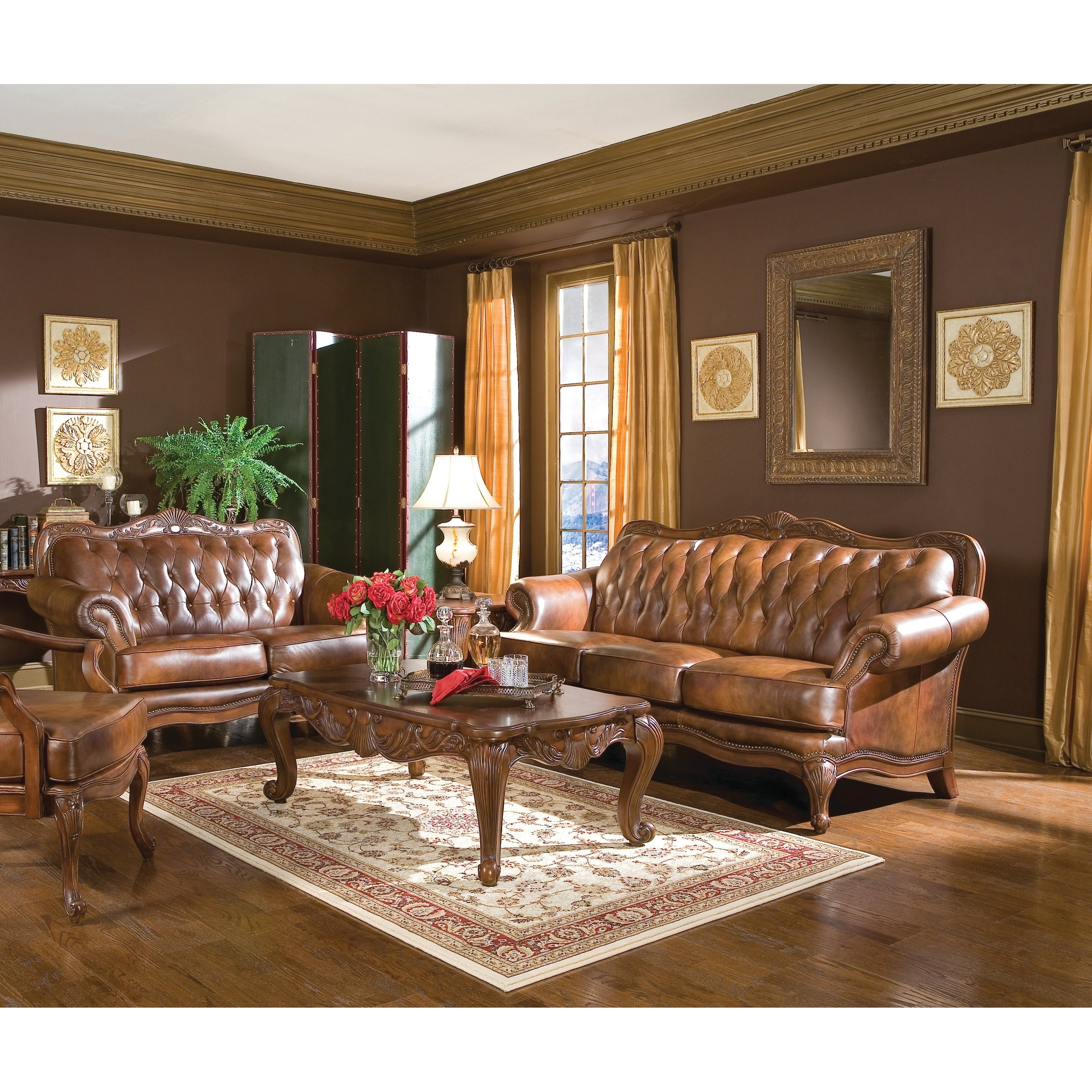 Victoria Traditional Tri Tone 2 Piece Living Room Set pertaining to 12 Genius Tricks of How to Upgrade Traditional Living Room Sets