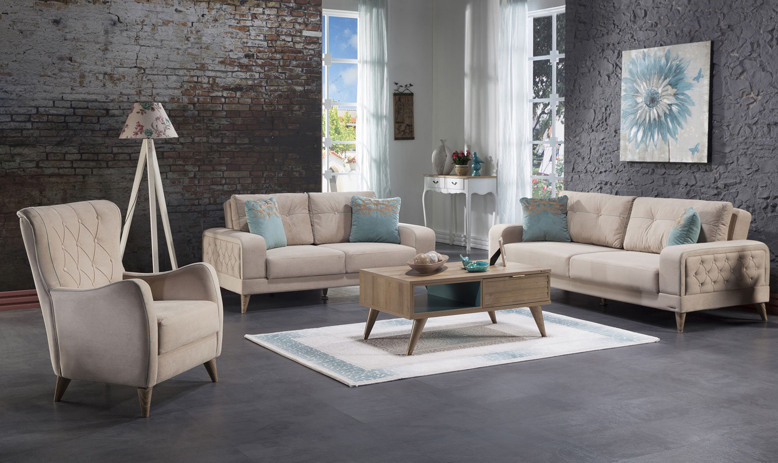 Vienza Living Room Set Lilyum Cream pertaining to 13 Smart Concepts of How to Make Istikbal Living Room Sets