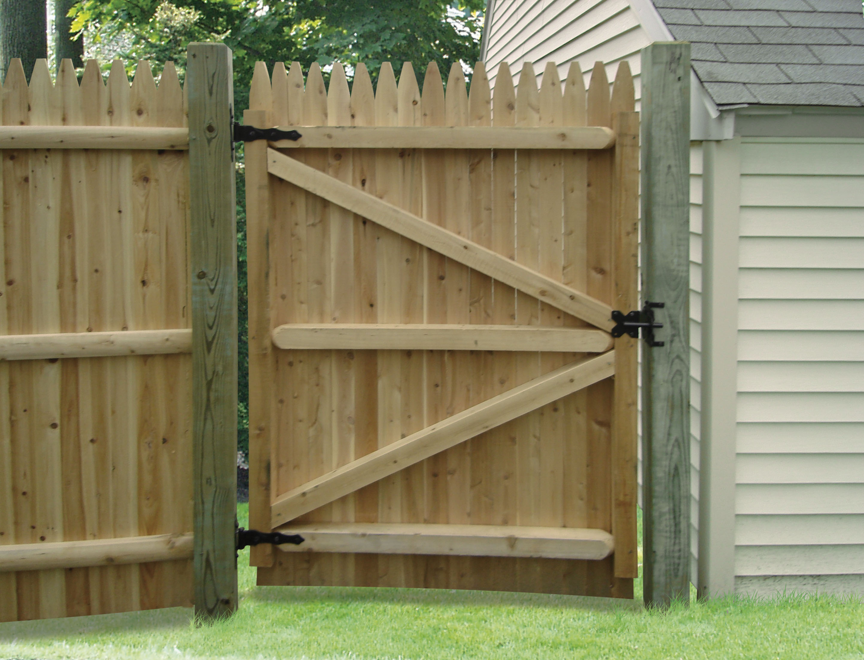 Wood Fence Gate Ideas Outdoor Decorations Wood Fence Gate Detail intended for Backyard Fence Gate