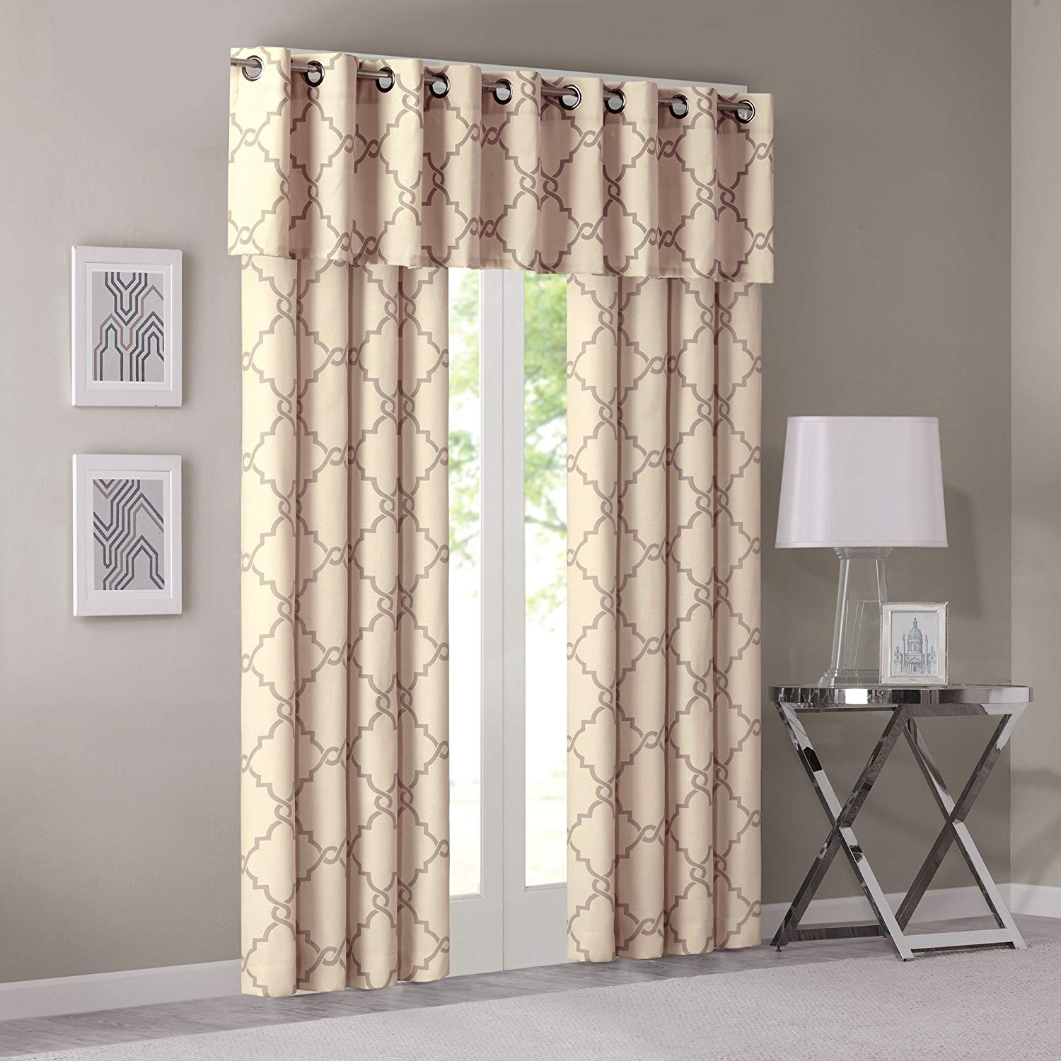 Yellow Curtains For Living Room Modern Contemporary Window Curtains For Bedroom Saratoga Print Fabric Grommet Window Curtains 50x84 1 Panel throughout Modern Window Treatments For Bedroom