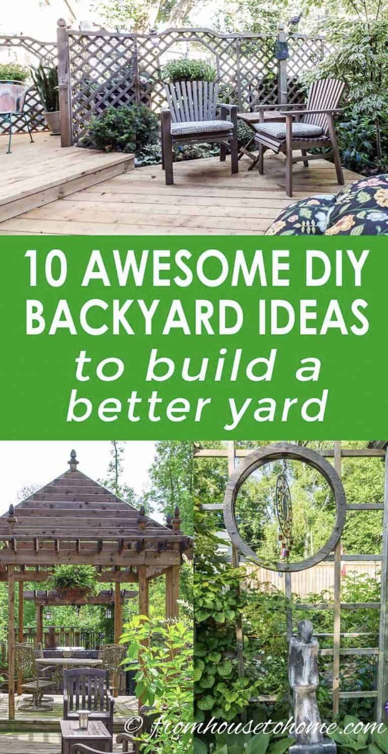 10 Awesome Diy Backyard Ideas To Build A Better Yard intended for 13 Some of the Coolest Tricks of How to Makeover Easy Diy Backyard Ideas