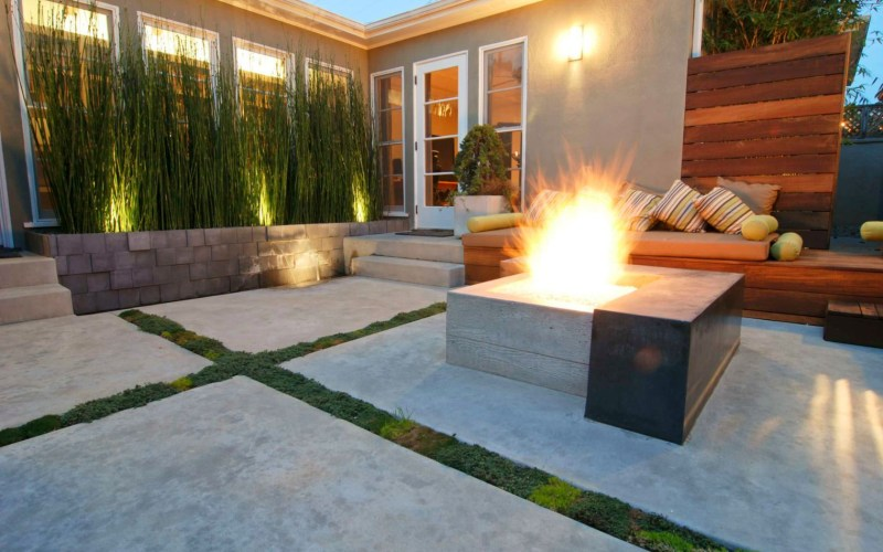 15 Beautiful Concrete Patio Ideas And Designs intended for Concrete Backyard Landscaping