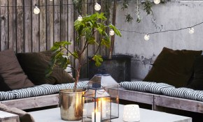 19 Inspiring Backyard And Patio Lighting Project Ideas regarding Backyard Lounge Ideas