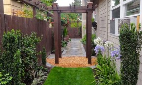 25 Beautiful Narrow Side Yard Design For Simple Side Yard with 15 Some of the Coolest Tricks of How to Make Narrow Backyard Design Ideas