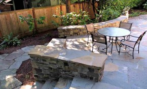 25 Great Patio Paver Design Ideas intended for 14 Smart Ways How to Improve Backyard Flagstone Patio Ideas