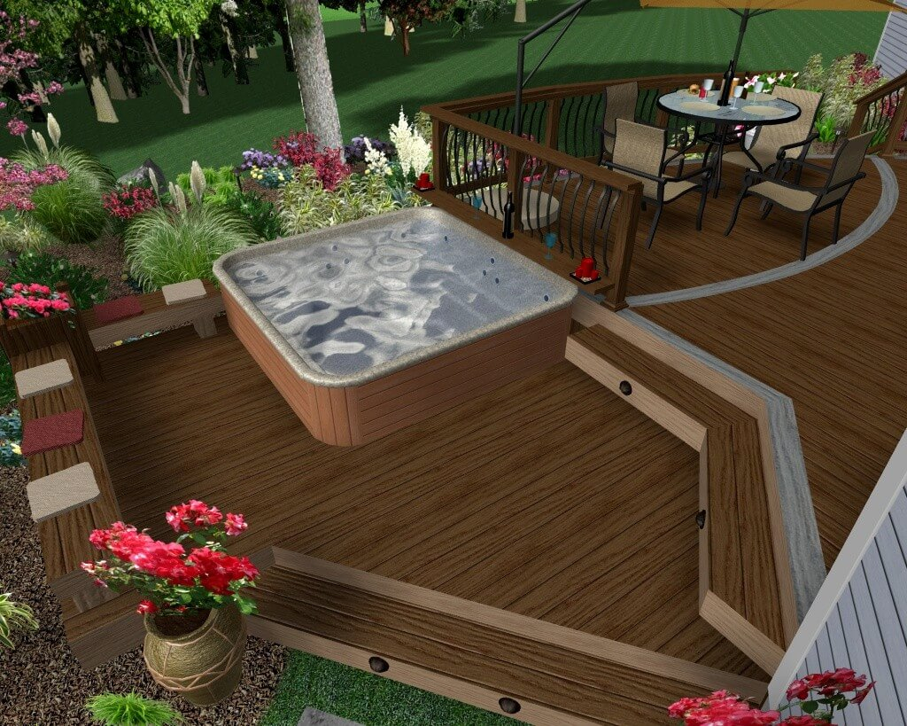63 Hot Tub Deck Ideas Secrets Of Pro Installers Designers throughout Backyard Hot Tub Ideas