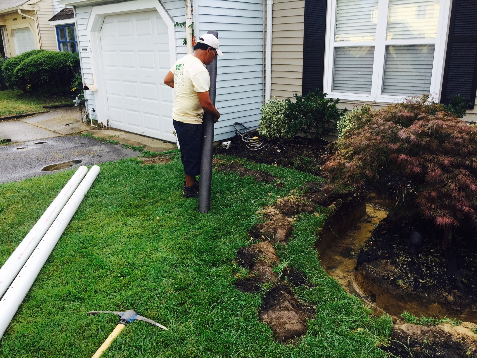 A Pertinent Remedy To A Persistent Water Drainage Problem inside Backyard Drainage Ideas