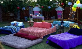 Air Mattresses For Movie Night Outside Outdoor Movie in 12 Genius Concepts of How to Craft Backyard Movie Night Ideas