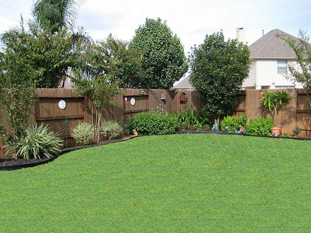 Back Yard Trees Along Fence Garden Pool Lands for Landscaping Ideas For Backyard Privacy
