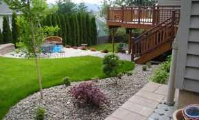 Backyard Pool Landscaping Ideas Design Privacy Large And throughout Backyard Landscaping Design Ideas