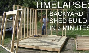 Complete Backyard Shed Build In 3 Minutes Icreatables Shed Plans pertaining to Backyard Shed Ideas