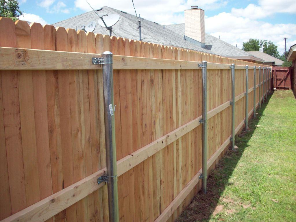 Cost To Fence A Yard Popular Wood Installation Repair Chain with How Much Does A Backyard Fence Cost