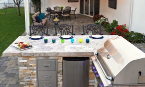 Custom System Pavers Built In Barbecue Bbq Grill Backyard pertaining to Backyard Built In Bbq Ideas