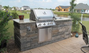 Extended Outdoor Bbq Island Compass Pointe Leland Nc In pertaining to Backyard Built In Bbq Ideas