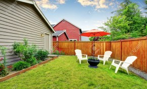 Fenced Backyard Patio Area With Opened Red Umbrella And Well inside 16 Some of the Coolest Tricks of How to Improve Fenced In Backyard