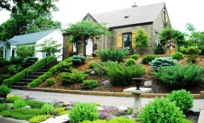 Front Yard Slope Landscaping Ideas Hillside Ideas For With pertaining to Backyard Hillside Landscaping Ideas