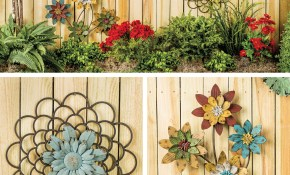 Homemade Garden Decorations Ideas Greatindex Net Handmade Diy regarding 16 Some of the Coolest Ideas How to Craft Backyard Wall Decor
