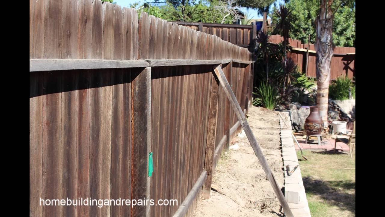 How I Fixed A Leaning Wood Fence Home Repair Slideshow inside Backyard Fence Repair