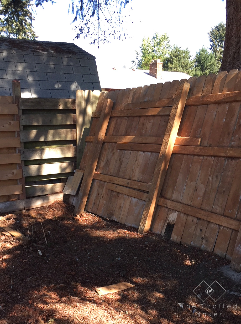 How To Repair A Privacy Fence The Crafted Maker inside 15 Clever Ways How to Upgrade Backyard Fence Repair