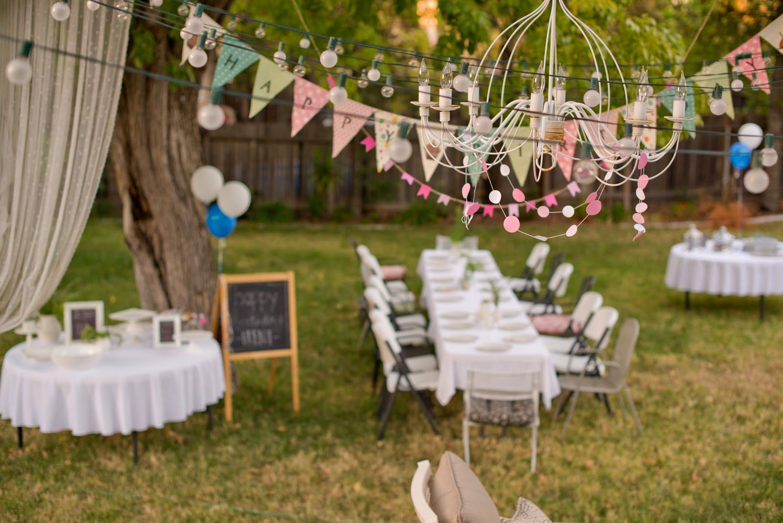 Outdoor Party Decor For Adults Gembloongdecor Outdoor pertaining to 11 Clever Designs of How to Makeover Backyard Birthday Decorations