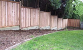 Privacy Fence Building Build A Fence On Sloped Ground Backyard throughout 13 Smart Designs of How to Makeover Best Backyard Fence