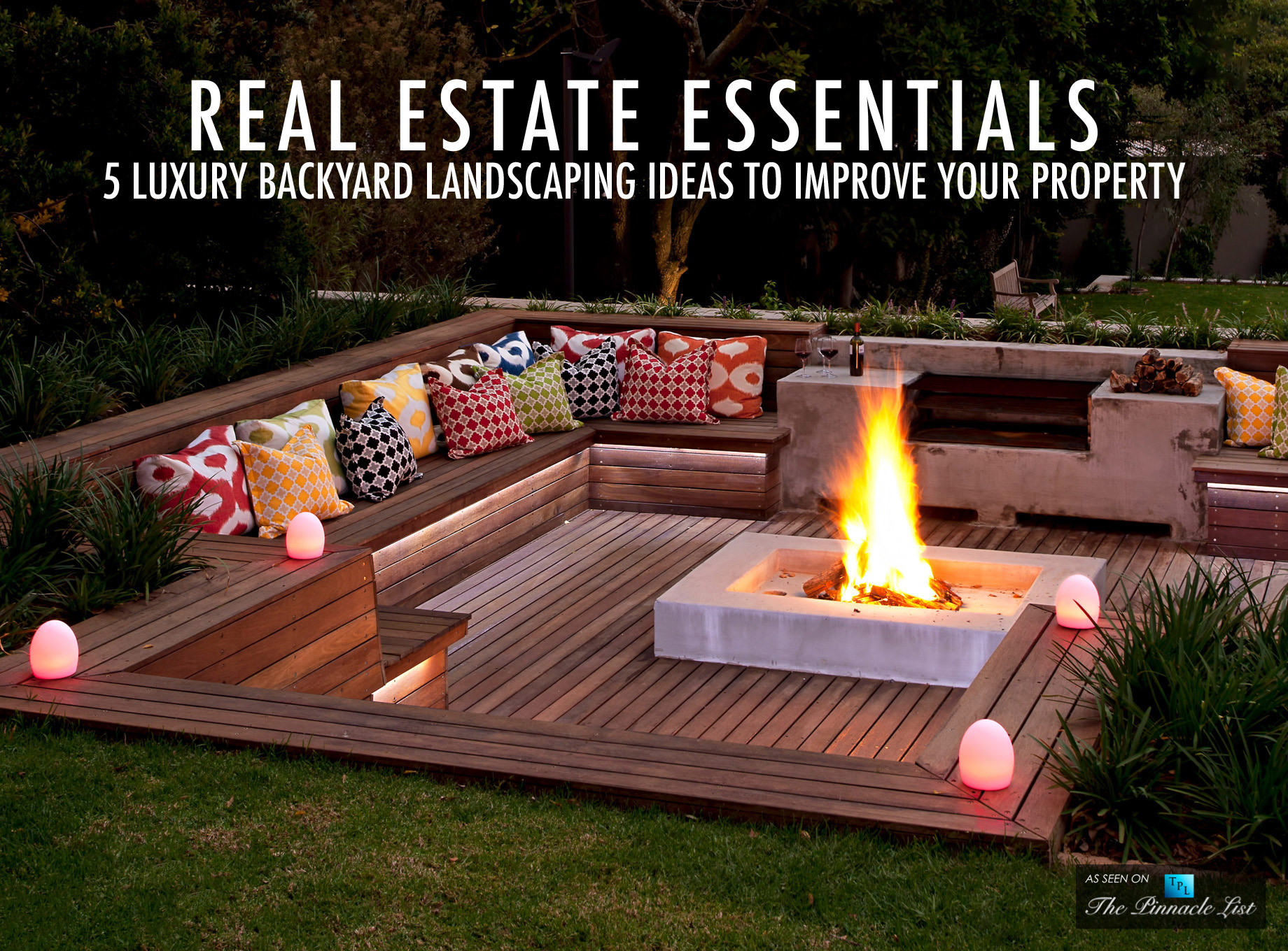 Real Estate Essentials 5 Luxury Backyard Landscaping Ideas intended for Backyard Pictures Ideas